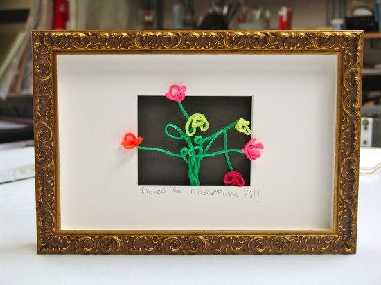 Framed craft project for mother's day