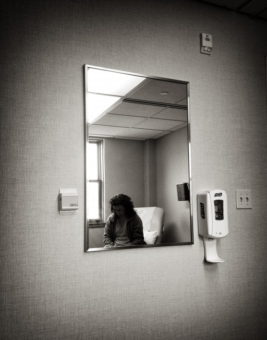 My wife at one of her many doctor appointments